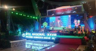 Suasana Penutupan MTQN ke XXVIII di Masjid Raya Sumbar, Jumat 20/11 /2020.