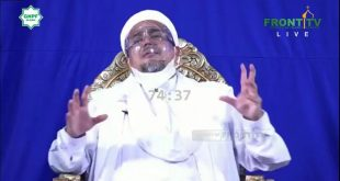 Imam Besar Front Pembela Islam (FPI), Habib Rizieq Shihab secara virtual menghadiri dialog Nasional 100 Ulama dan Tokoh dalam peringatan Reuni 212 yang disiarkan secara langsung di Front TV. Rabu 2/12).