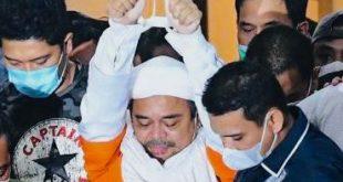 Habib Rizieq Shihab yang sudah ditetapkan tersangka dibawa ke Rutan Narkoba Polda Metro Jaya usai menjalani pemeriksaan untuk menjalani penahanan selama 20 hari ke depan.