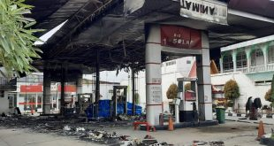 milik Pertamina di Jalan Ababil Kecamatan Sukajadi ludes terbakar Jumat (1/1) pukul 23.55 WIB