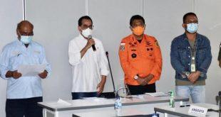 Kemenhub Bersama Stakeholder memberikan keterangan kronologis Sementara soal Pesawat Sriwijaya yang hilang kontak