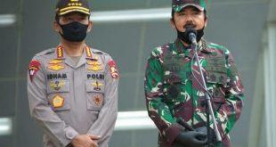 Kapolri Jenderal Pol Idham Azis bersama Panglima TNI Hadi Tjahjanto