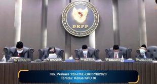 DKPP mengelar sidang pembacaan putusan dugaan pelanggaran Kode Etik Penyelenggara Pemilu (KEPP) dengan teradu Ketua KPU RI Airef Budiman