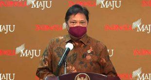 Menteri Koordinator Bidang Perekonomian Airlangga Hartarto dalam konferensi pers di Youtube Sekretariat Presiden