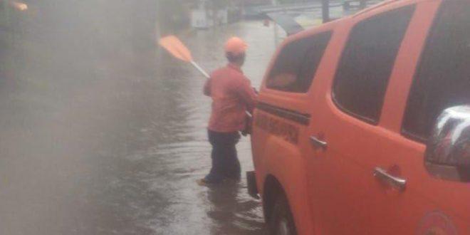 Kondisi banjir di Perumahan Sari Gaperi, Jatibening, Kota Bekasi (Foto: BPBD Kota Bekasi)