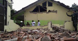 Ilustrasi sekolah rusak akibat bencana