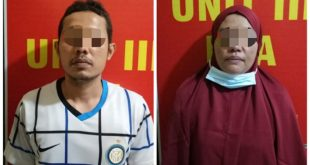 Pasutri berinisial AF dan YN ditangkap Satreskrim Polres Bukittinggi karena terlibat dalam kasus pemerkosaan