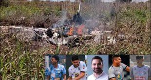 presiden klub dan empat pemain Palmas Futbol e Regatas, klub divisi empat Brasil yang tewas dalam kecelakaan pesawat.