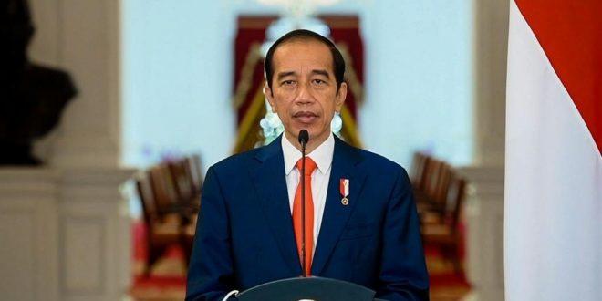 Presiden Jokowi menyampaikan sambutan secara virtual dalam acara Laporan Tahunan Ombudsman RI